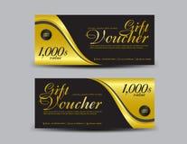 L'or et l'insecte noir de calibre de bon de cadeau conçoivent illustration stock