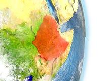 L'Ethiopie en rouge sur terre illustration libre de droits