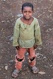 l'Ethiopie : Enfant et pauvreté Image libre de droits