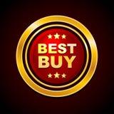 L'etichetta Best Buy dell'oro Vector Fotografia Stock Libera da Diritti
