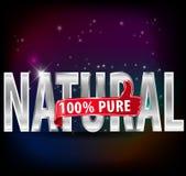 l'etichetta d'argento naturale e pura di 100% con i pollici aumenta il vettore eps10 illustrazione vettoriale
