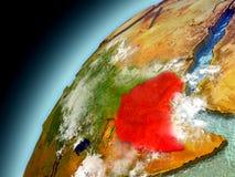 L'Etiopia dall'orbita di Earth di modello Fotografie Stock