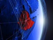L'Etiopia su terra digitale blu blu immagini stock