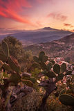 L'Etna au coucher du soleil photographie stock libre de droits