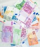 L'euro affiche l'euro argent de billets de banque Devise d'Union européenne Images libres de droits