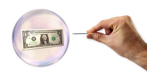L'euro bulle environ à exploiter images stock