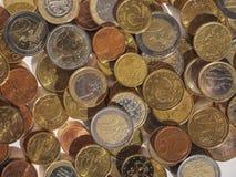 L'euro conia la priorità bassa Immagine Stock