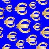 L'euro dell'oro cede firmando un documento il blu Priorità bassa senza giunte di vettore royalty illustrazione gratis