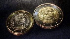 L'euro della Lettonia conia 2014 Fotografia Stock Libera da Diritti
