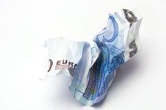 L'euro fattura ha sgualcito Fotografie Stock
