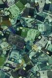 L'euro fattura i raggi x Fotografia Stock Libera da Diritti