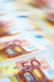 L'euro fattura la priorità bassa Fotografia Stock Libera da Diritti