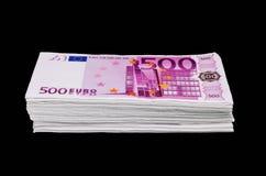 l'euro note la réflexion photographie stock