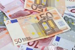 l'euro note la réflexion Photographie stock libre de droits