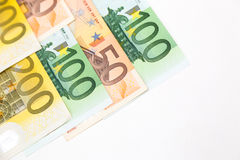 l'euro note la réflexion Images libres de droits