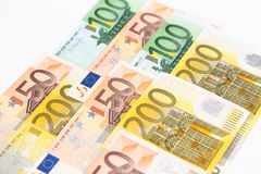 l'euro note la réflexion Photo stock