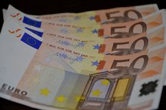 l'euro note la réflexion Photos stock