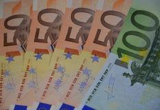 l'euro note la réflexion Image stock