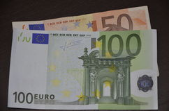 l'euro note la réflexion Photo stock