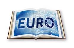 L'euro ricostruzione - immagine di concetto con 3D renda di un libro aperto della foto - sono il titolare dei diritti d'autore de immagine stock libera da diritti