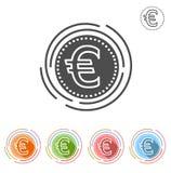L'euro segno ha isolato l'icona piana su un fondo bianco Royalty Illustrazione gratis