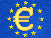 L'euro signe Photo stock