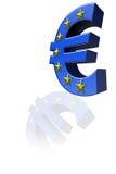 L'euro simbolo Fotografie Stock Libere da Diritti