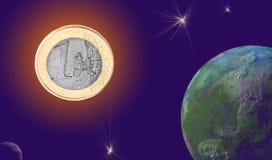 L'euro soleil Photo libre de droits