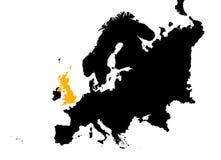 l'Europe avec la carte BRITANNIQUE Images stock