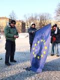 l'Europe contre l'ACTA, Lublin, Pologne Photographie stock