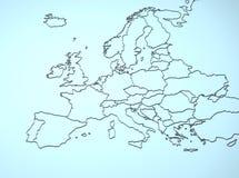 L'Europe 3D Photo libre de droits