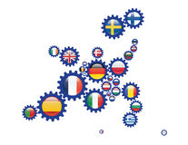 L'Europe dans des vitesses Photo stock