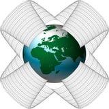 l'Europe dans le réseau illustration stock