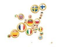 L'Europe dans les pièces de monnaie Image stock