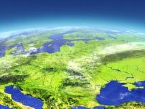 L'Europe de l'Est de l'espace illustration libre de droits
