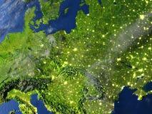 L'Europe de l'Est sur terre de planète Image stock