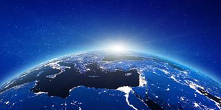 L'Europe et l'Asie illustration stock