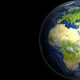 L'Europe et l'Afrique de l'espace illustration libre de droits