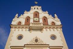 L'Europe, Pologne, Rzeszow, vieille ville, place du marché, ville hôtel Photos stock