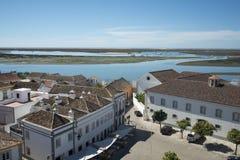 L'EUROPE PORTUGAL ALGARVE FARO RIA FORMOSE Images stock