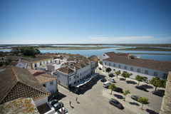 L'EUROPE PORTUGAL ALGARVE FARO RIA FORMOSE Image stock