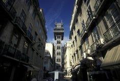 L'EUROPE PORTUGAL LISBONNE ELEVADOR DE SANTA JUSTA Photo stock