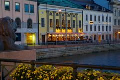 L'Europe, Scandinavie, Suède, Gothenburg, restaurant sur Sodra Hamng Images stock