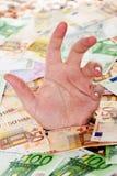 l'Europe se noyant dans la dette Images libres de droits