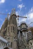 L'Europe, temple en construction de Sagrada Familia, Barcel Photos libres de droits
