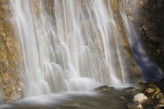 L`Eventail Waterfall, Herisson Waterfalls Stock Photography