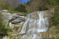 L`Eventail Waterfall, Herisson Waterfalls Royalty Free Stock Photography