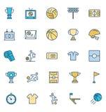L'evento di calcio ha isolato le icone di vettore ha messo che possono essere modificate o pubblicare facilmente illustrazione vettoriale