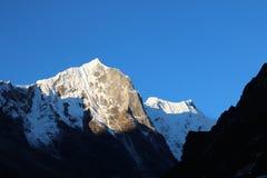 L'Everest, conosciuto in nepalese come  del thÄ del  di SagarmÄ e nel tibetano come Chomolungma Fotografie Stock Libere da Diritti