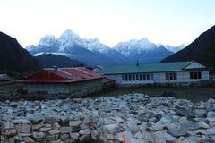 L'Everest e nel tibetano come Chomolungma Fotografia Stock